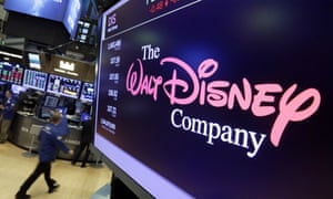 The Walt Disney Company logo on a screen at the New York Stock Exchange in 2017.
