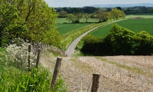 Countryside near the village of Kirby Misperton in North Yorkshire where a planning application by Third Energy to frack was recently approved