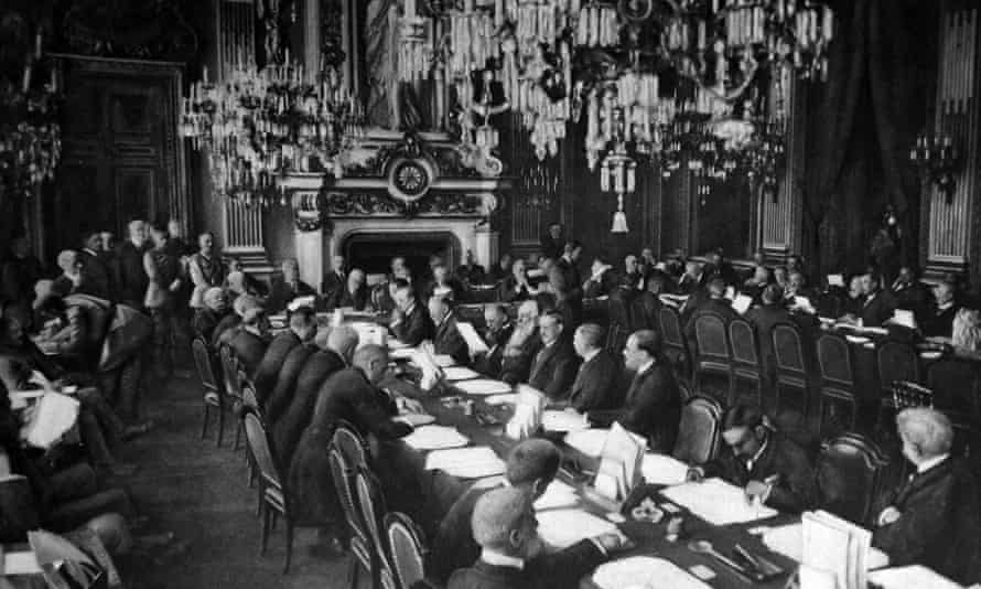 Opening session of the Versailles peace conference at the Trianon Palace, January 1919.
