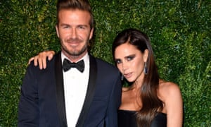 David and Victoria Beckham attend the 60th London Evening Standard Theatre Awards at London Palladium on November 30, 2014 in London, England. (Photo by Karwai Tang/WireImage)