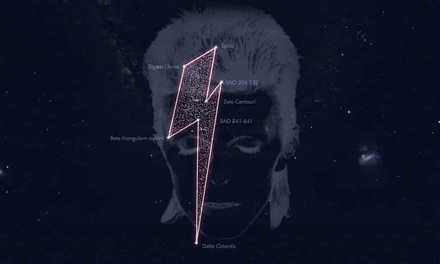 A constellation of stars registered in tribute to the musician David Bowie.
