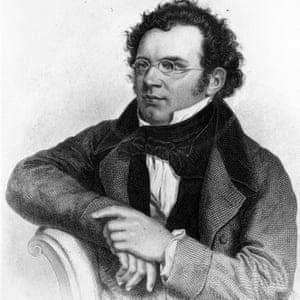 An engraving of Schubert, circa 1820
