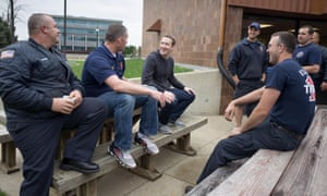 Zuckerberg drops in on the Elkhart central fire department