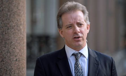 Former British intelligence officer Christopher Steele in London. The dossier contained explosive allegations about Trump and the Kremlin.