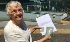Inga Lockington with her letter from the Home Office and her Danish passport from the 70s.