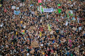 Thousands of climate protesters gather in Hamburg, northern Germany