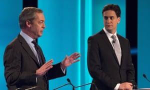 Leaders' debate: Nigel Farage and Ed Miliband