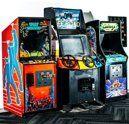Time out: arcade games in the downstairs lounge, where members can also play ping pong.