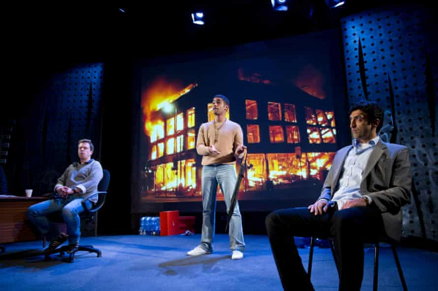 A scene from The Riots by Gillian Slovo, directed by Nicolas Kent at the Tricycle theatre, November 2011.
