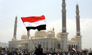Yemenis rally to show support for the newly formed governing council