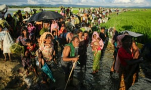 Rohingya refugees in Bangladesh in October 2017.