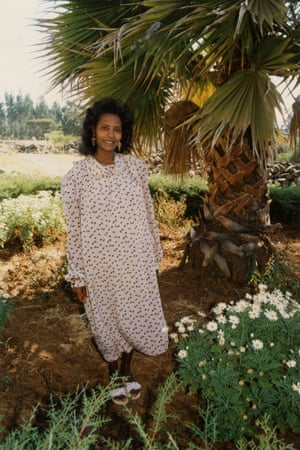 My mother, pregnant with me. (Ethiopia)
