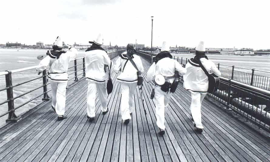 Pier revue … the Rotters on Southport Pier, 1993.