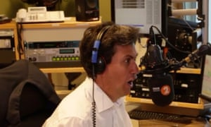 'He sounded like a man whose foot has been run over by a bike' … Ed Miliband's attempt at the Napalm Death screech.