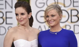 Tina Fey and Amy Poehler arrive for the Golden Globes in Beverly Hills in 2015