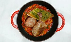'At the bottom are white beans in a violent tomato sauce that hates me': the cassoulet.