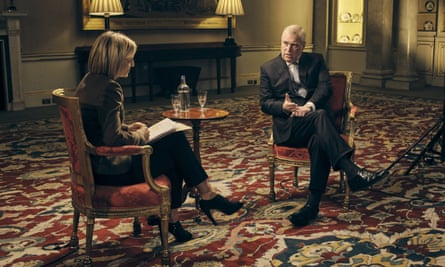 Emily Maitlis interviewing Prince Andrew for BBC Newsnight, November 2019