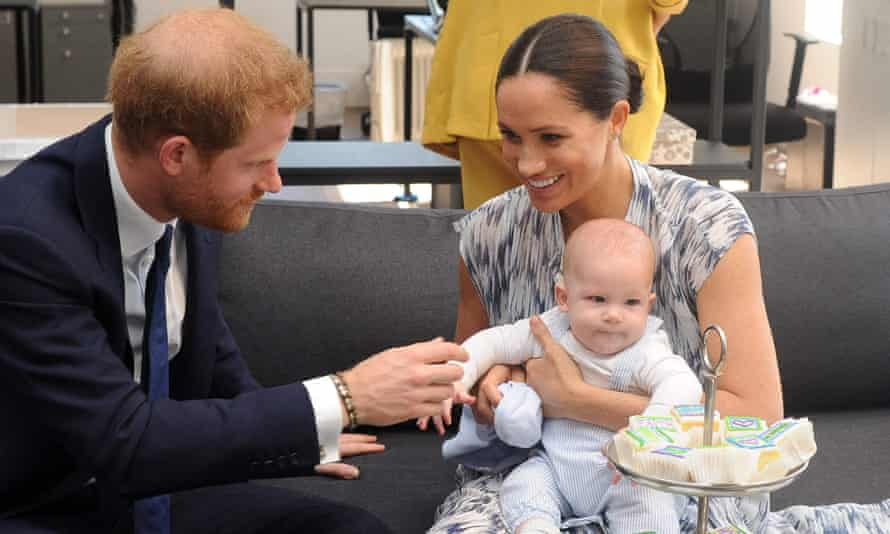 Prince Harry with Meghan and their son Archie in Cape Town in 2019