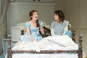 Intervention … the playwright (portrayed here by Louise Ford, right) injects herself – and her 21st-century mindset – into The Watsons.