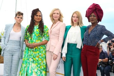 Kristen Stewart, Ava DuVernay, Cate Blanchett, Lea Seydoux and Khadja Nin at Cannes last year.
