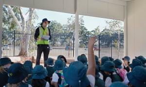 Schoolchildren on a tour of Perth Water Corporation