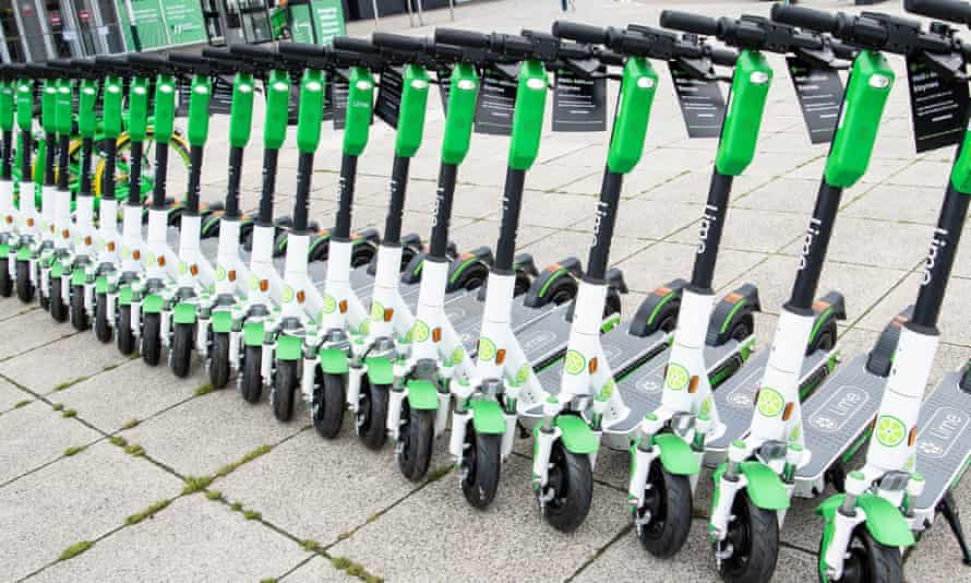 E-scooters for hire in Milton Keynes