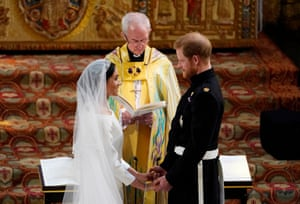 The Duke and Duchess of Sussex exchange vows