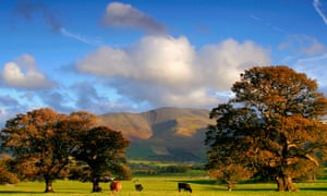 Stunning view over Bassenthwaite Common in the Lake District, Cumbria.