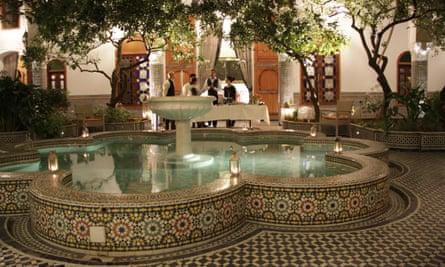Back at base: Palais Amani's garden reception area.