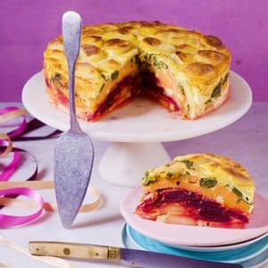 Anna Jones's layered rainbow vegetable bake