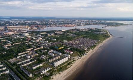 Residential buildings in Severodvinsk, Russia