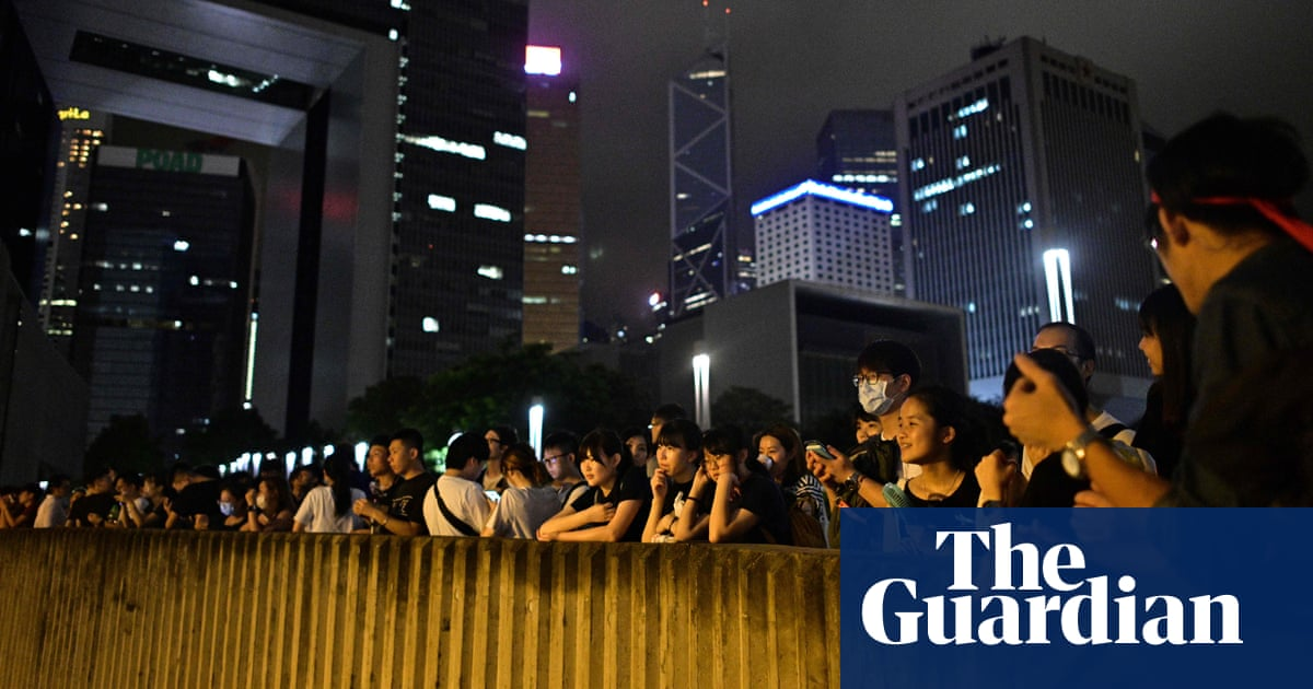 Hong Kong extradition law: protesters rally outside government offices