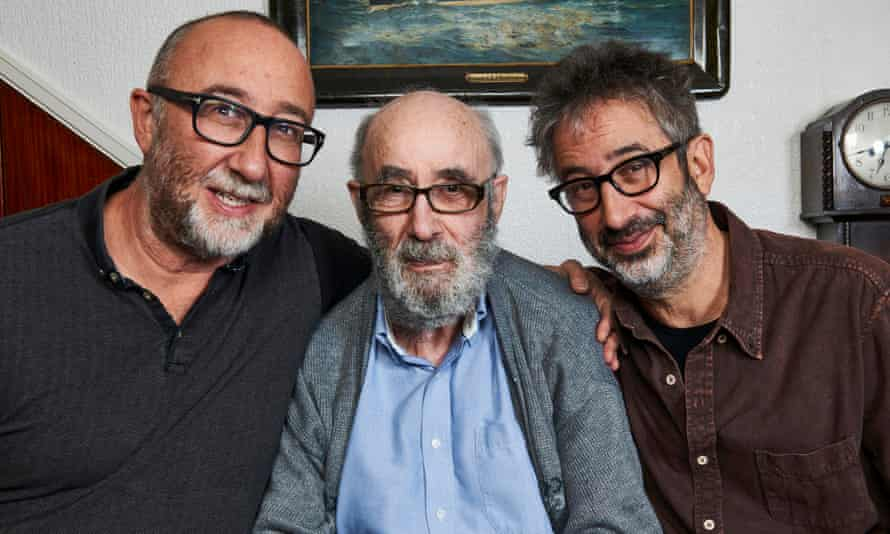 Ivor, Colin and David Baddiel in the 2016 Channel 4 documentary The Trouble With Dad.