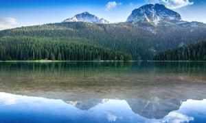 Black lake in Durmitor national park, Montenegro.