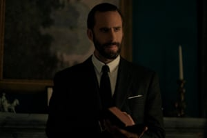 Pence-like … Joseph Fiennes as Commander Fred Waterford in The Handmaid's Tale.