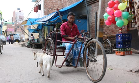 The government has provided residents of Tahir Pur who have leprosy with hand-operated rickshaws. Some have lost tissue in their feet due to leprosy-related injuries.