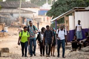 Chibeze Ezekiel with activists from 350 G-ROC