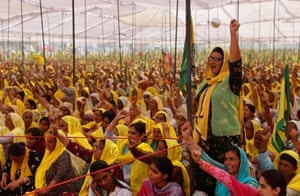 Bahadurgar, India Female farmers at a protest against new agriculture laws