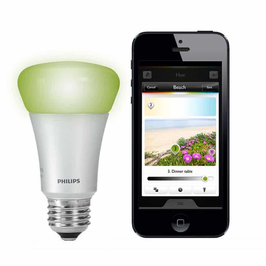 phillips hue light bulb and app