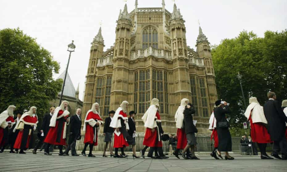 Judges walk from Westminster Abbey to the Palace of Westminster, marking the beginning of the legal year