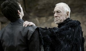 Isaac Hempstead Wright as Bran Stark and Max von Sydow as Three-Eyed Raven in Season 6 of Game of Thrones
