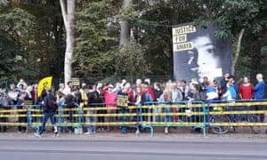 Protest in Brussels, Belgium, for political prisoner Amaya Eva Coppens