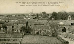 明信片显示Saint-Rémy-de-Provence镇