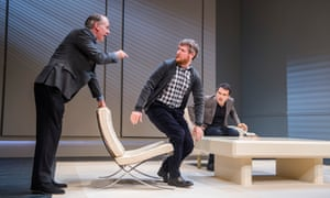 'Not really about painting but about friendship': Paul Ritter, Tim Key and Rufus Sewell in Art at the Old Vic.