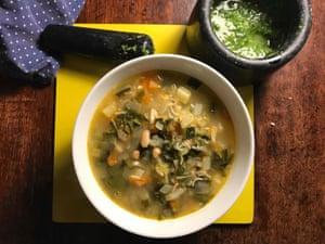 Perfect soupe au pistou a la Jacques Medecin: with a side of controversy.