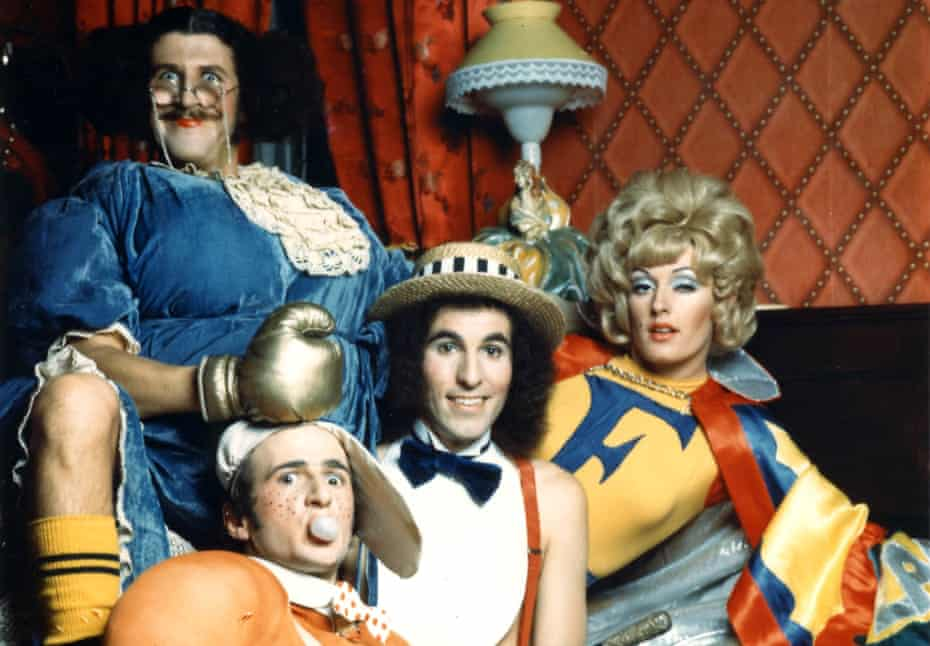 Grahame Bond, Gary McDonald, Sandy Macgregor and Rory O'Donoghue in the Aunty Jack Show.