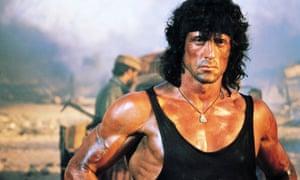 Muscle memory … Sylvester Stallone as John Rambo.