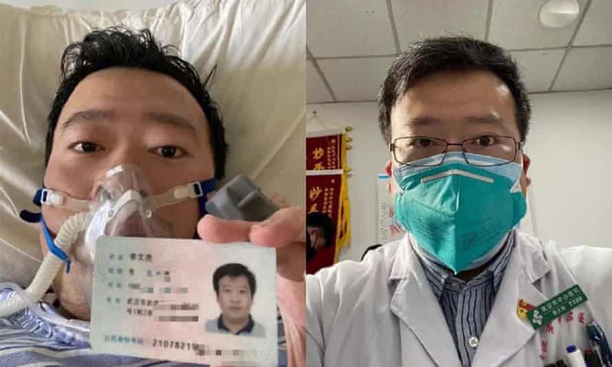 Li Wenliang's blogs on coronavirus crisis in Wuhan were censored by authorities at end of December. He died on 6 February 2020.