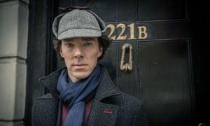 Benedict Cumberbatch as Sherlock Holmes in the TV series Sherlock.