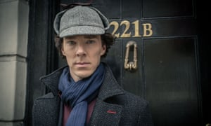Benedict Cumberbatch as Sherlock Holmes … Doyle's detective typified the new system of forensic science.